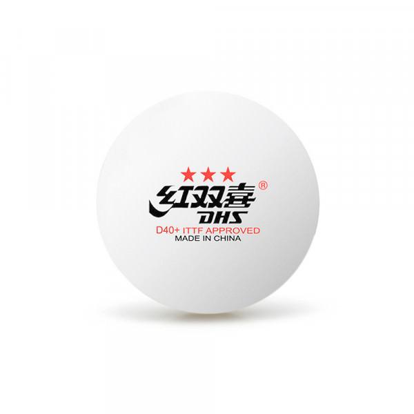 Мячи для настольного тенниса DHS 3*** D40+ (10 шт.)