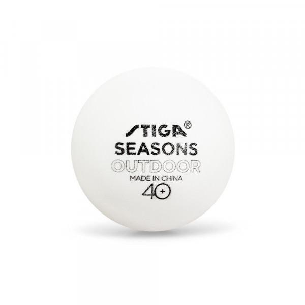 Мячи для настольного тенниса всепогодные Stiga Seasons Outdoor 40+ (6 шт.)
